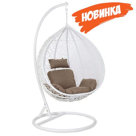 Белые подвесные кресла из ротанга!