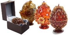 24.03.20 Сувенирные пасхальные яйца из янтаря