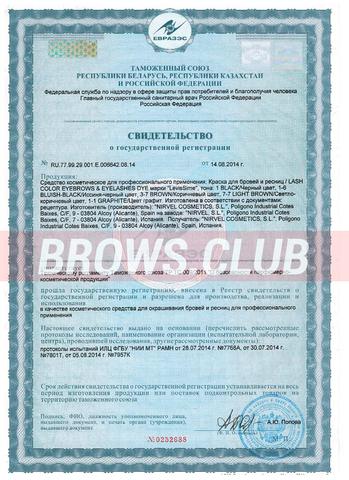 Levissime - свидетельство о государственной регистрации и сертификаты
