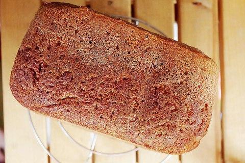 Простой ржаной хлеб в хлебопечке
