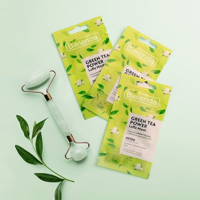 Luffa Mask Green Tea 2 in 1