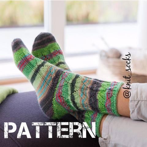 Женские носки с ажурным узором