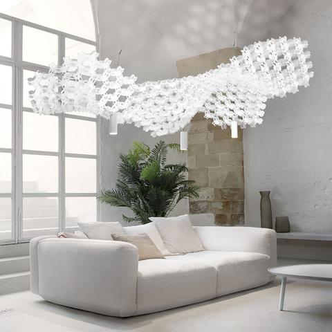 Не светильник, но полноценный живой потолок: световая система Nuvem от Slamp