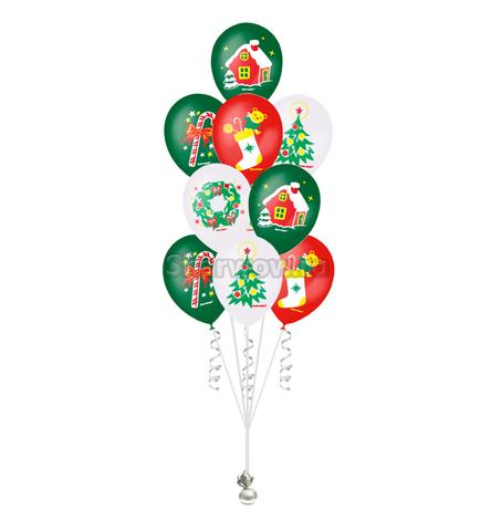 Спешите! Новые новогодние композиции из шаров с гелием!
