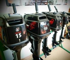 Обзор бензиновых лодочных моторов Golfstream