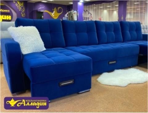 Вот такой яркий и красивый диванчик стоит у нас на выставке в фирменном магазине