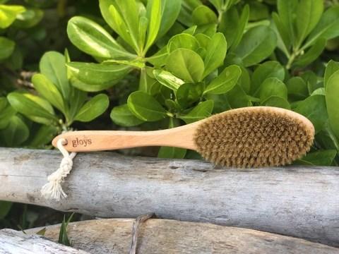 Натуральная щетка для сухого массажа