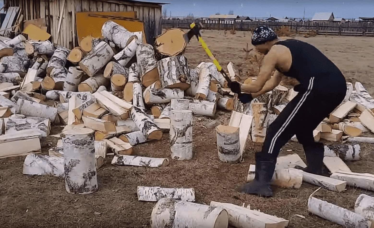 Как правильно колоть дрова?