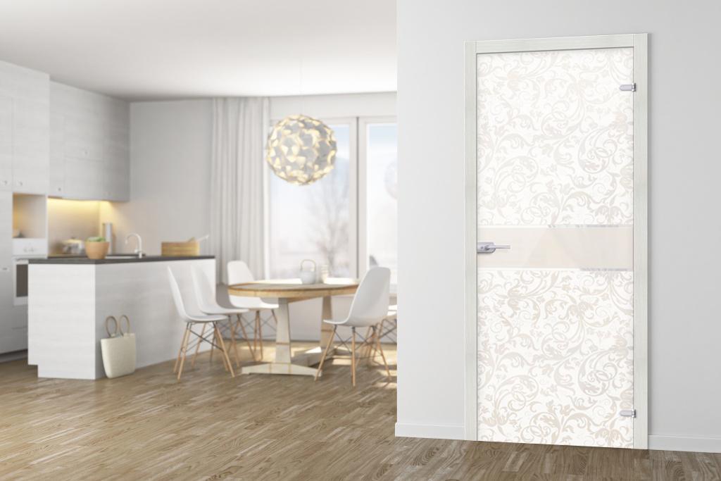 Новая стеклянная дверь Флори
