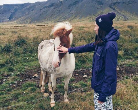Саша и исландская лошадка