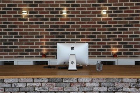 TRIF-MEBEL | Реализованный проект: офисная стойка-ресепшен в эко стиле