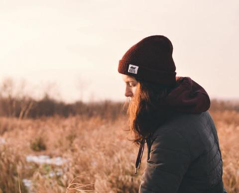 Настя в осенних полях