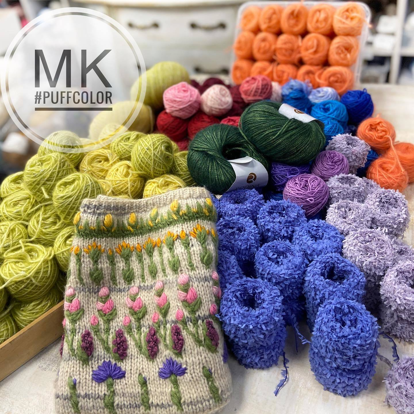Puff Color Knitting