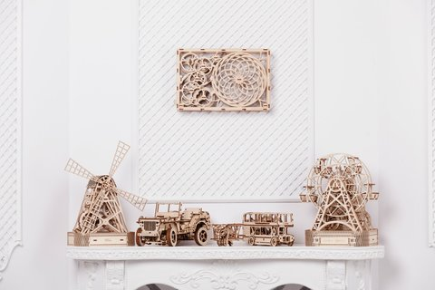 Деревянные 3D-конструкторы «WOODEN.CITY»