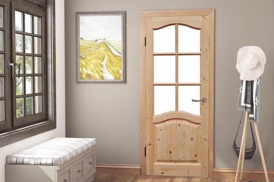 Новые двери под покраску из массива сосны