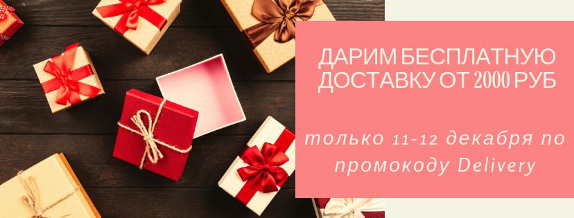 Дарим бесплатную доставку от 2000 руб