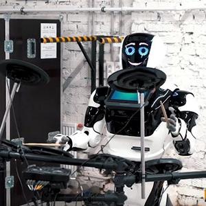 В рок-группе только роботы
