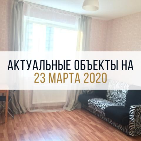 АКТУАЛЬНЫЕ ОБЪЕКТЫ НА 23 МАРТА 2020 ГОДА