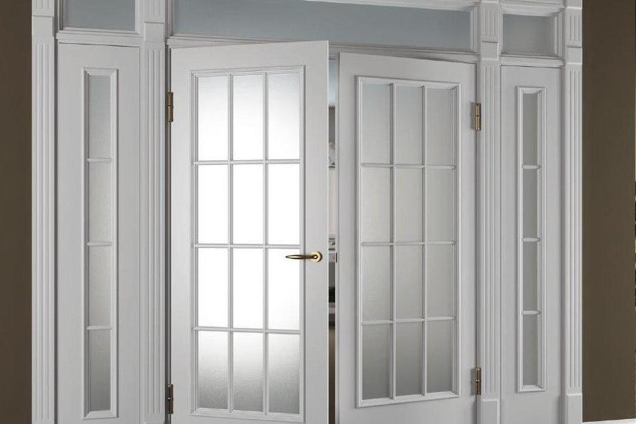 Особенности стеклянных двустворчатых дверей
