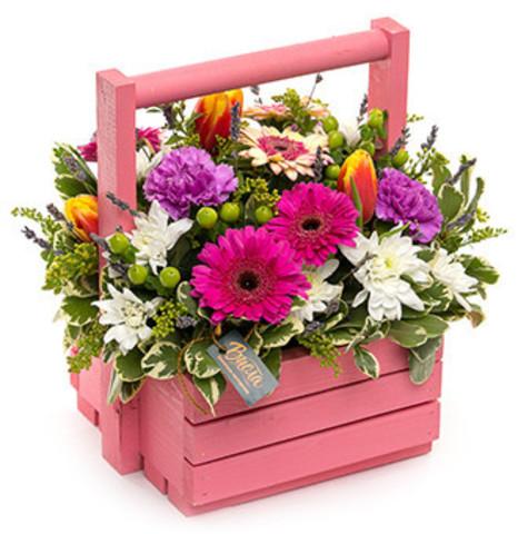 Ящики с цветами