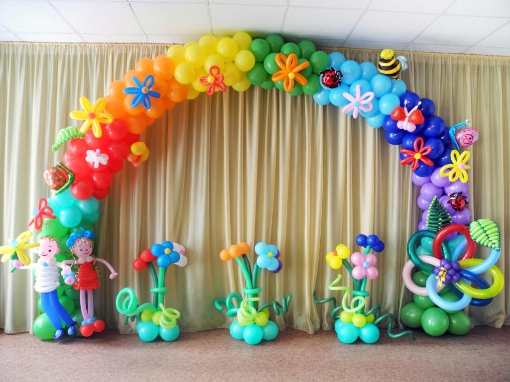 Оформление воздушными шарами (Украшение шариками)