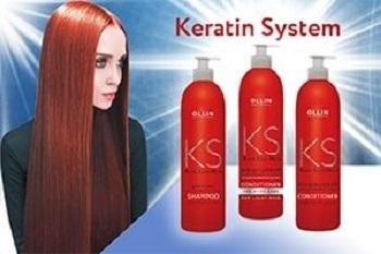 OLLIN Keratin System   Кератиновый комплекс для выпрямления волос.