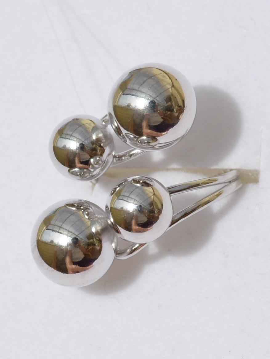Серебряные кольца с шариками