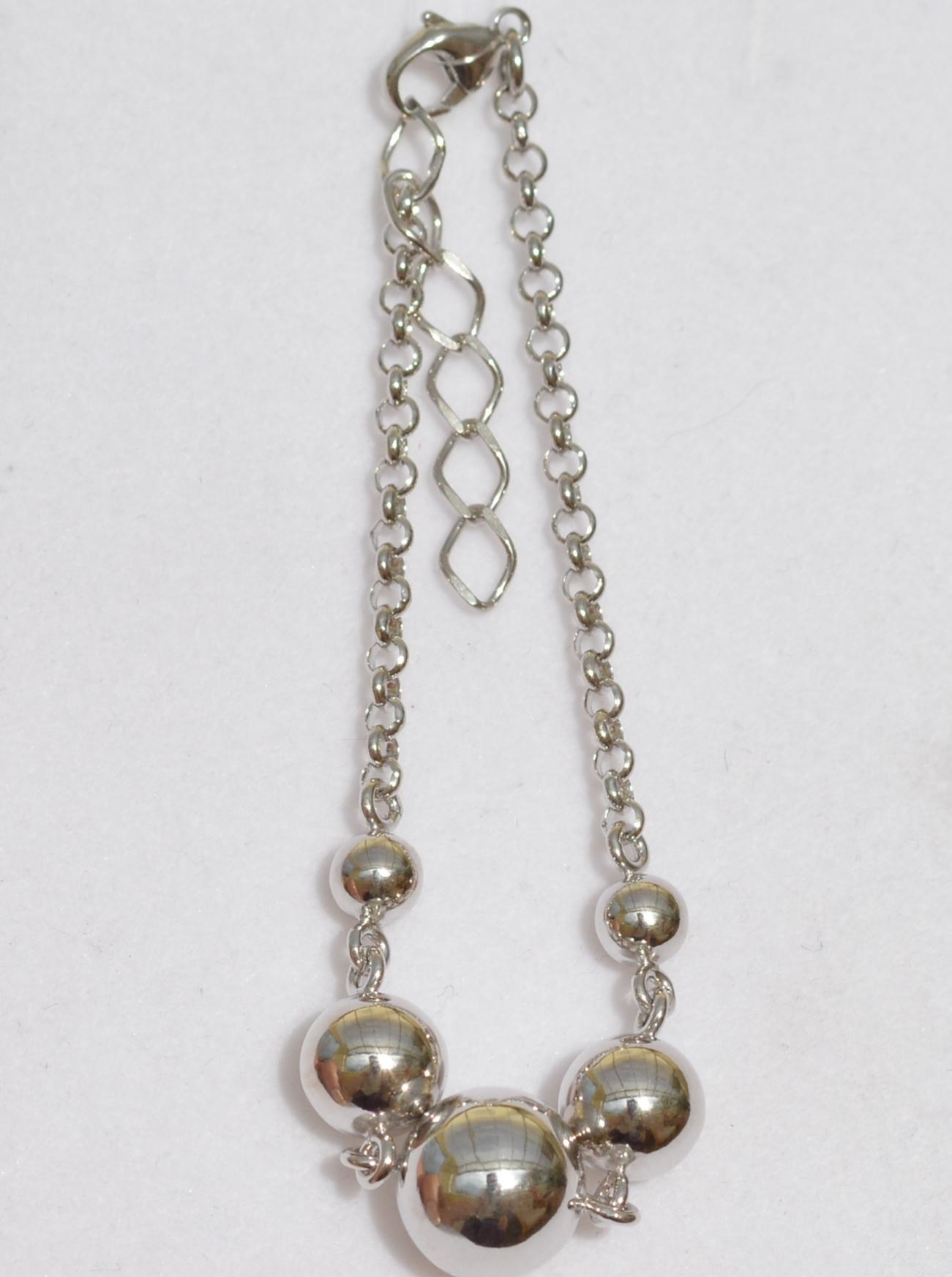 Серебряные браслеты с шариками