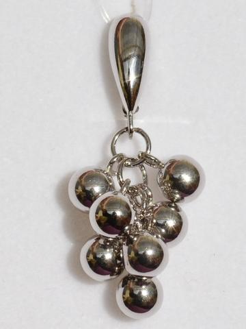 Серебряные кулоны с шариками