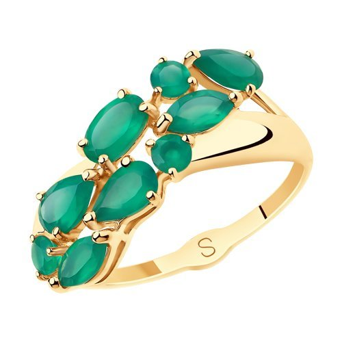 Кольцо из золота полудрагоценными камнями