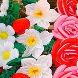 Надувные цветы и пневмогирлянды