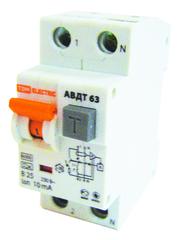 Диф.автомат АВДТ63 6 кА 2 пол.