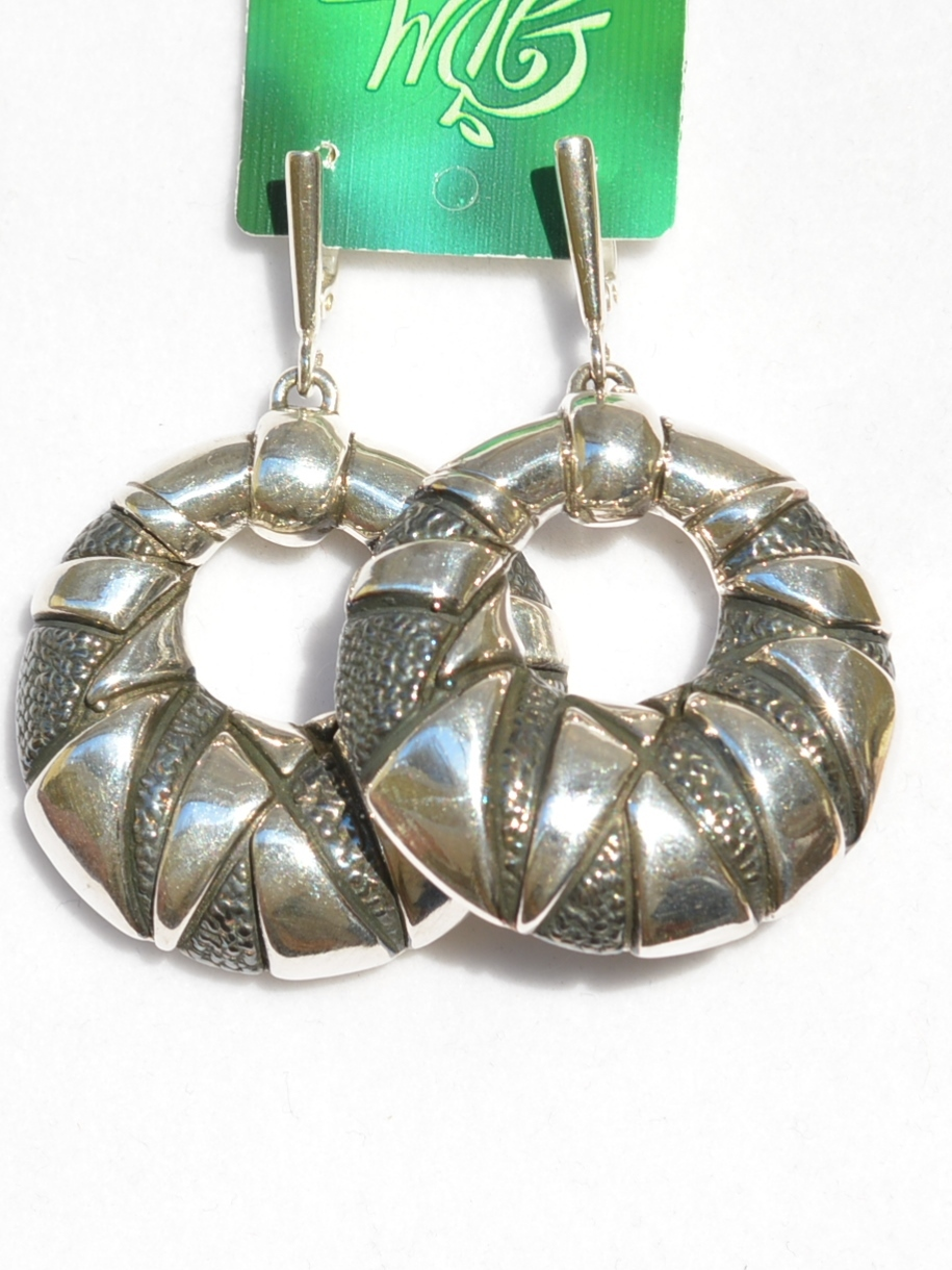 Серебряные серьги гальванопластика