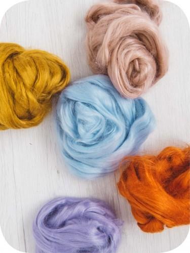 Волокна крапивы для валяния