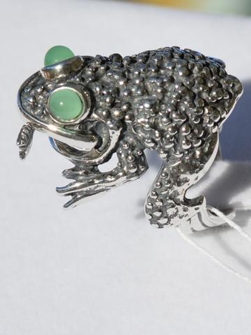 Лягушки и жабы из серебра
