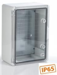 Шкафы ЩПМ IP65 (ABS, прозрачная  дверь)