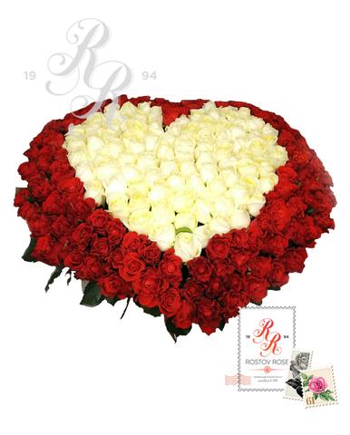 Букеты роз Сердцем