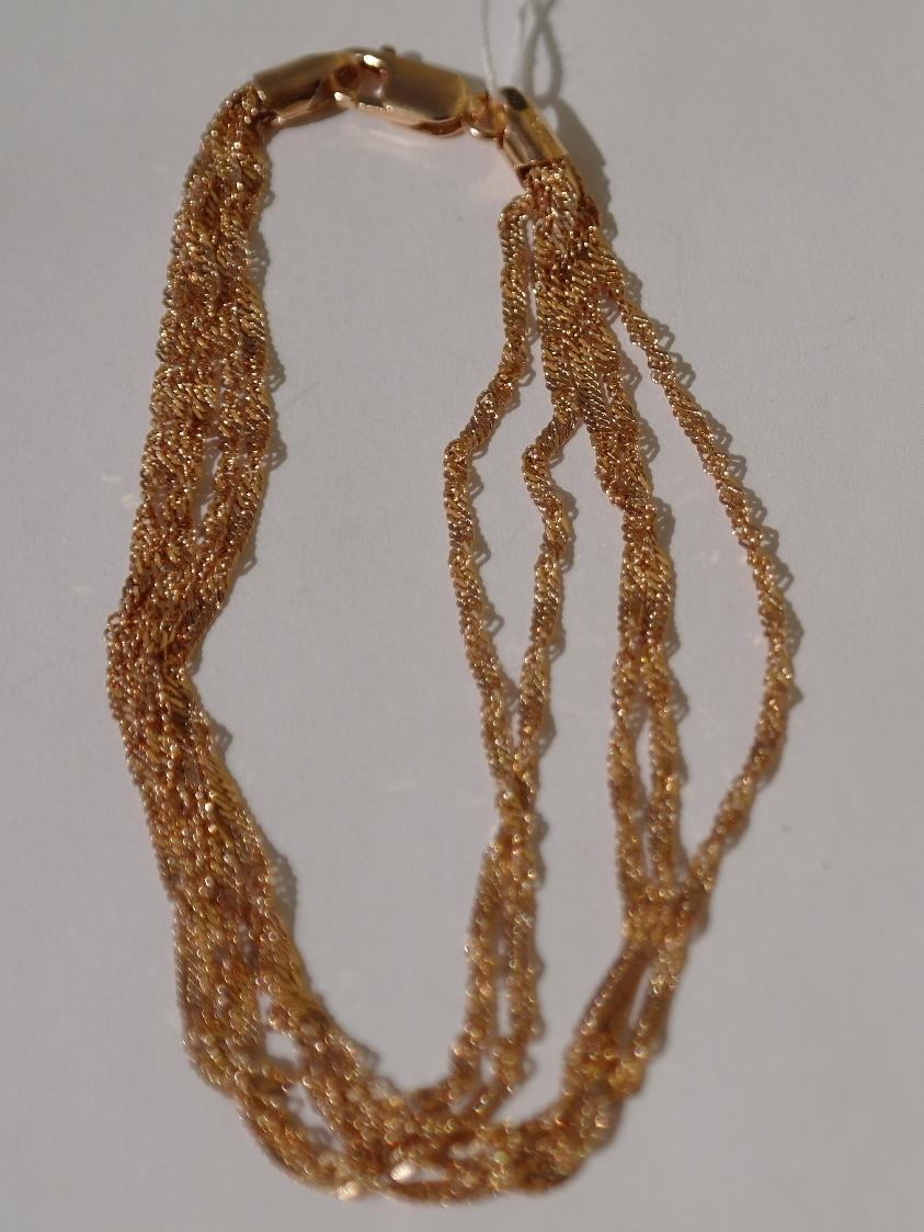 Серебряные цепочки с позолотой