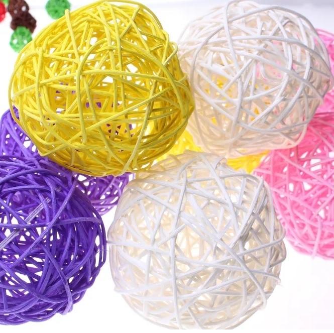 Вставки в композиции (шары из ротанга)
