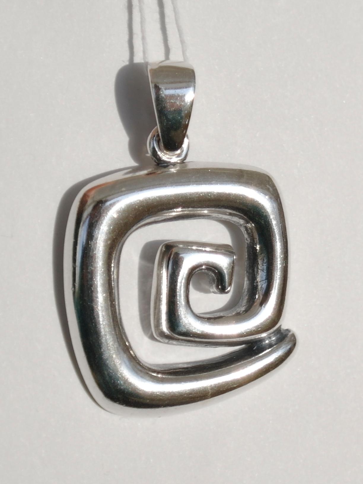 Серебряные кулоны без камней