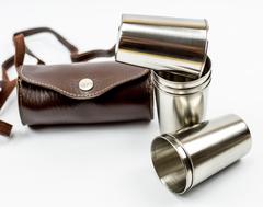 Подарочный набор стопок в чехле «По-нашему»