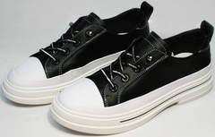 Красивые женские кеды туфли женские модные El Passo sy9002-2 Sport Black-White.