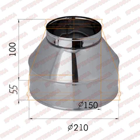 Конус d150х210мм (430/0,5 мм) Ferrum