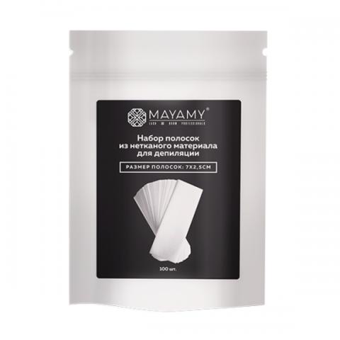 Набор полосок из нетканого материала для депиляции MAYAMY (7x2.5см) 100шт
