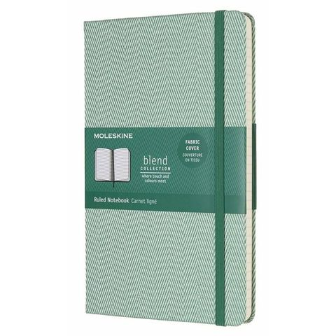 Блокнот Moleskine Limited Edition BLEND LCBD02QP060K Large 130х210мм обложка текстиль 240стр. линейка зеленый
