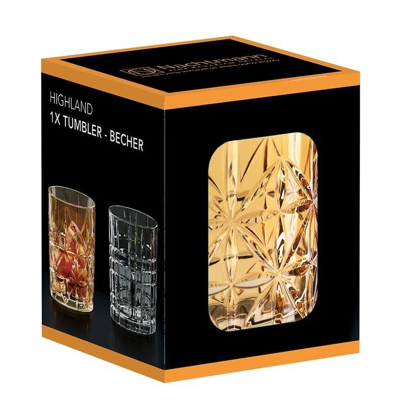 Фото - Оранжевый хрустальный стакан для виски Highland, 345 мл стакан низкий highland 345 мл серый 97443 nachtmann