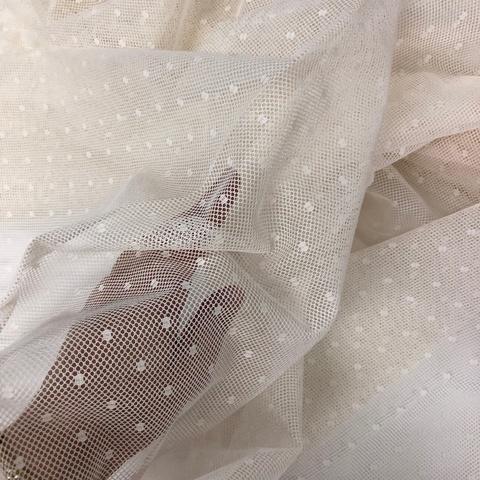 Сетка Полотно Tulle cotton ivore