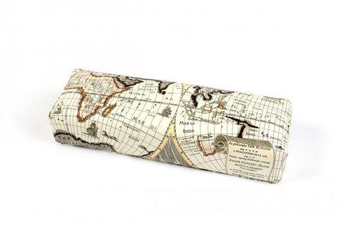 Подлокотник кожаный для рук (карта мира) бежевая