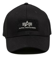 Кепка Alpha Industries Logo Black (черная)