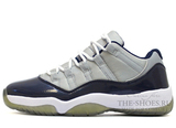 Кроссовки Мужские Nike Air Jordan XI Low Grey Top White